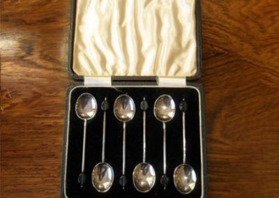 Silver coffee bean spoons