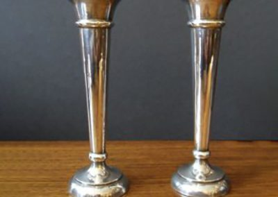 Silver bud vases