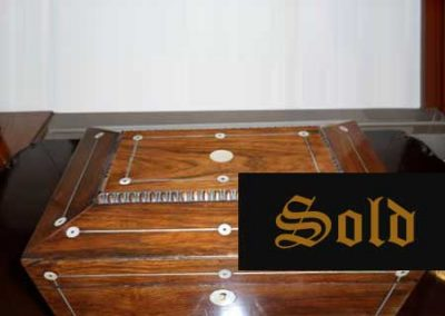 Regency rosewood sarcophagus jewellery box SOLD